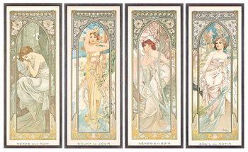 Reprodução do quadro The Times of the Day; Les heures du jour (a set of four), 1899