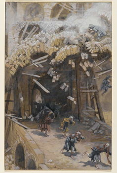 Reprodução do quadro The Tower of Siloam, illustration from 'The Life of Our Lord Jesus Christ', 1886-96