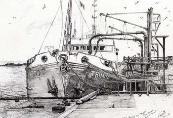 Reprodução do quadro The Trinity port Ellen Isle of Islay, 2007,