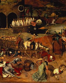 Reprodução do quadro The Triumph of Death, c.1562 (panel)