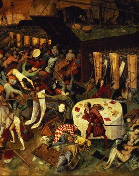 Reprodução do quadro The Triumph of Death, detail of the lower right section, 1562