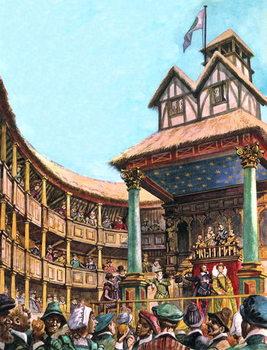 Reprodução do quadro The Tudor Theatre