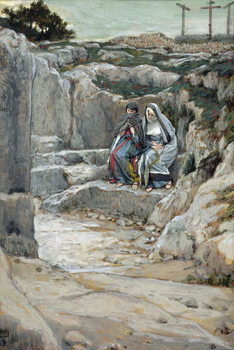 Reprodução do quadro The Two Marys Watch the Tomb, illustration for 'The Life of Christ', c.1886-94