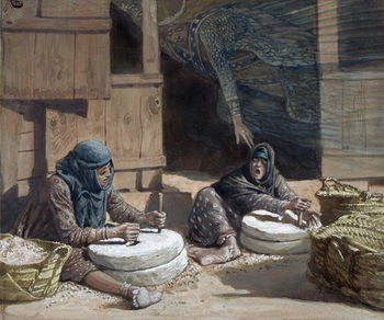 Reprodução do quadro The Two Women at the Mill, illustration for 'The Life of Christ', c.1886-94