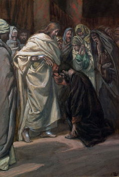 Reprodução do quadro The Unbelief of St. Thomas, illustration for 'The Life of Christ', c.1884-96