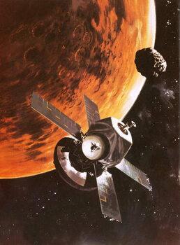 Reprodução do quadro The Viking spacecraft imagined orbiting Mars