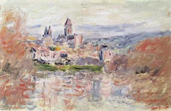 Reprodução do quadro The Village of Vetheuil, c.1881