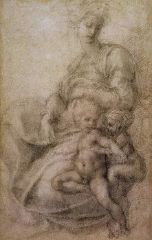 Reprodução do quadro The Virgin and Child with the infant Baptist, c.1530