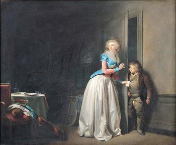 Reprodução do quadro The Visit Received, 1789