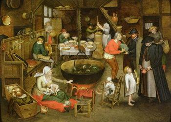 Reprodução do quadro The Visit to the Farm