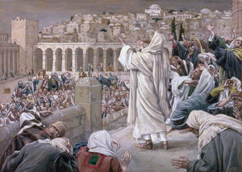 Reprodução do quadro The Voice from Heaven, illustration for 'The Life of Christ', c.1886-96
