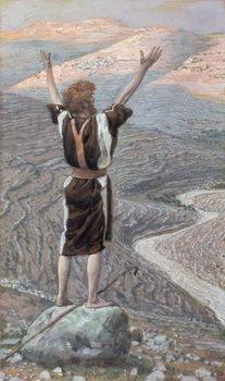 Reprodução do quadro The Voice in the Desert, illustration for 'The Life of Christ', c.1886-96