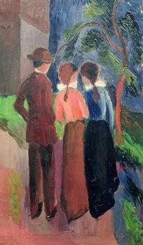 Reprodução do quadro The Walk, 1914