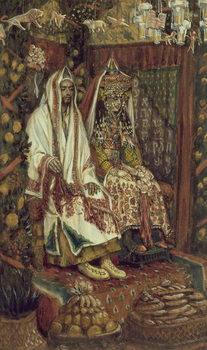 Reprodução do quadro The Wedding at Cana, illustration for 'The Life of Christ', c.1886-96