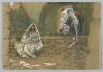 Reprodução do quadro The Woman of Samaria at the Well, illustration from 'The Life of Our Lord Jesus Christ'