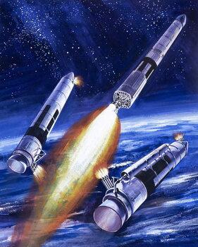 Reprodução do quadro Titan IIIC rocket booster