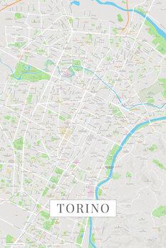 Mapa de Torino color