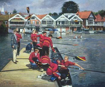 Reprodução do quadro Towards the Boathouses, Henley, 1997