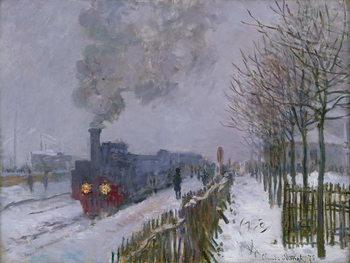 Reprodução do quadro Train in the Snow or The Locomotive, 1875