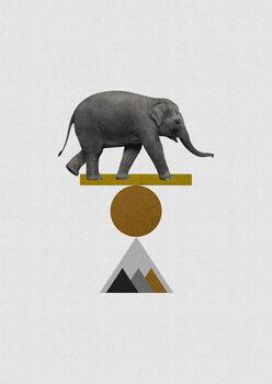 Ilustração Tribal Elephant