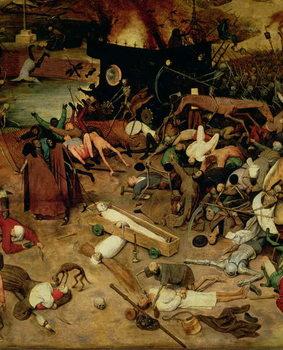 Reprodução do quadro Triumph of Death, detail of the central section, 1562