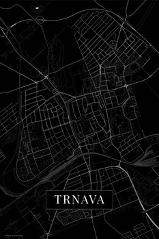 Mapa de Trnava black