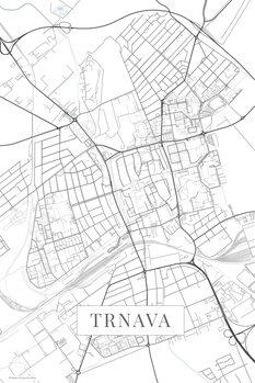 Mapa de Trnava white