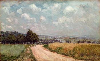 Reprodução do quadro Turning Road or, View of the Seine, 1875
