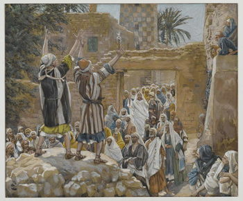Reprodução do quadro Two Blind Men at Jericho, illustration from 'The Life of Our Lord Jesus Christ', 1886-96