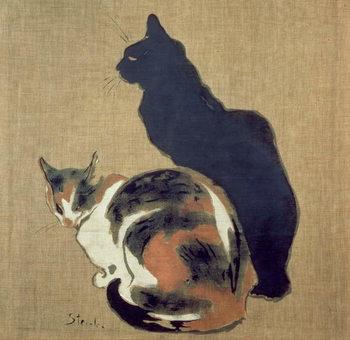 Reprodução do quadro Two Cats, 1894