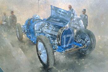 Reprodução do quadro Type 59 Grand Prix Bugatti, 1997