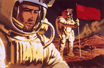 Reprodução do quadro Unidentified cosmonauts