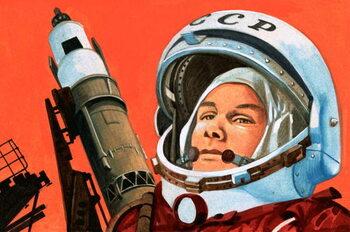 Reprodução do quadro Unidentified Russian cosmonaut