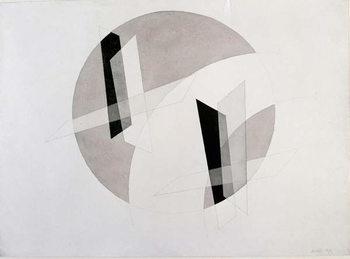 Reprodução do quadro Untitled Mixed Media by Laszlo Moholy-Nagy (Moholy Nagy)  New York, Museum of Modern Art