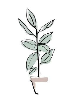Ilustração Vaso colore