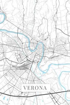 Mapa de Verona white