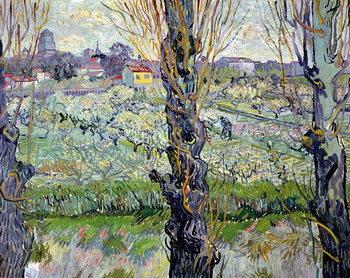 Reprodução do quadro View of Arles, 1889