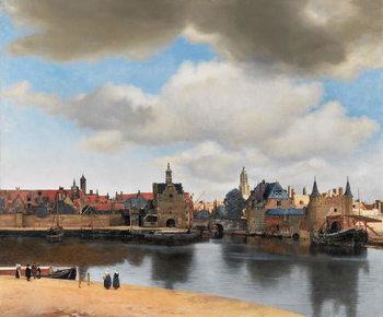 Reprodução do quadro View of Delft, c.1660-61