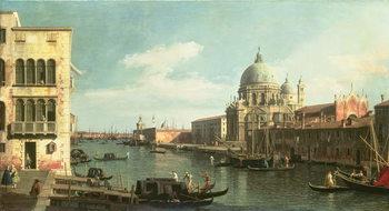 Reprodução do quadro View of the Grand Canal: Santa Maria della Salute and the Dogana from Campo Santa Maria Zobenigo, early 1730s