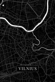 Mapa de Vilnius black