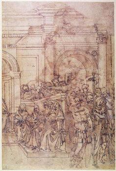 Reprodução do quadro W.29 Sketch of a crowd for a classical scene