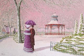 Reprodução do quadro Walking in the Snow