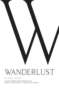 Ilustração Wanderlust definition typography art