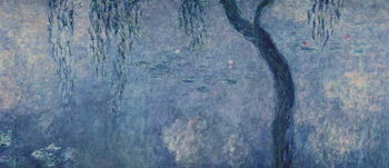 Reprodução do quadro Waterlilies: Two Weeping Willows, right section, c.1915-26 (oil on canvas)