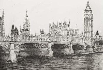 Reprodução do quadro Westminster Bridge London, 2006,