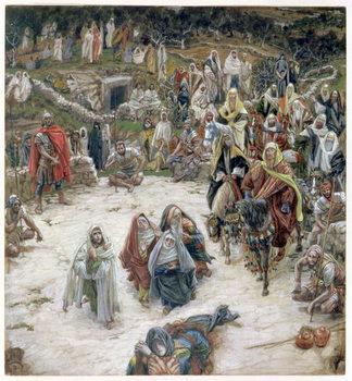 Reprodução do quadro What Christ Saw from the Cross, illustration for 'The Life of Christ', c.1886-96