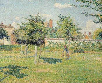 Reprodução do quadro Woman in the Meadow at Eragny, Spring, 1887