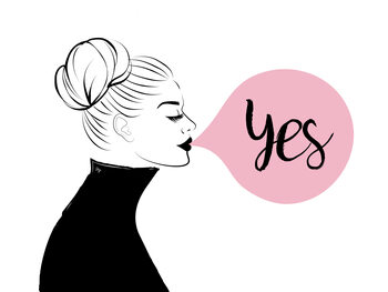 Ilustração Yes