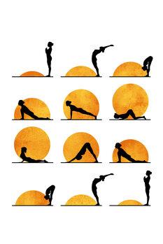 Ilustração Yoga Sun