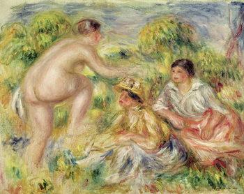 Reprodução do quadro Young Girls in the Countryside, 1916